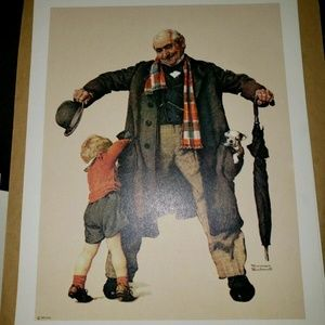 Norman Rockwell Litho Prints, The Gift, 8x10